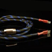 Dobrej jakości Aucharm 4N tlenu darmowa miedziana dekoder karta dźwiękowa kabel Audio DAC linie danych HiFi 2.0 kabel USB