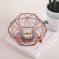 Vintage Standing Geometries Lantern Sconce Candle Holders Irregular Candlesticks Candle Holder Decorative For Home Decoration