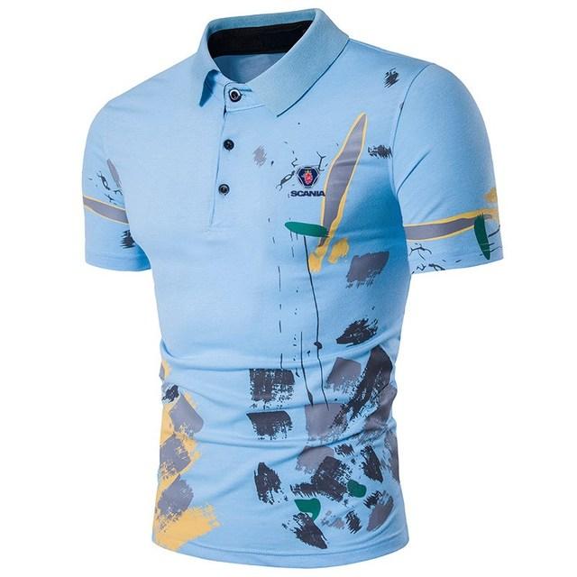 b3e7a1800 Alta Qualidade Tops Tees Casual Camisa Dos Homens do Polo de Manga Curta  Camisas Florais Homens