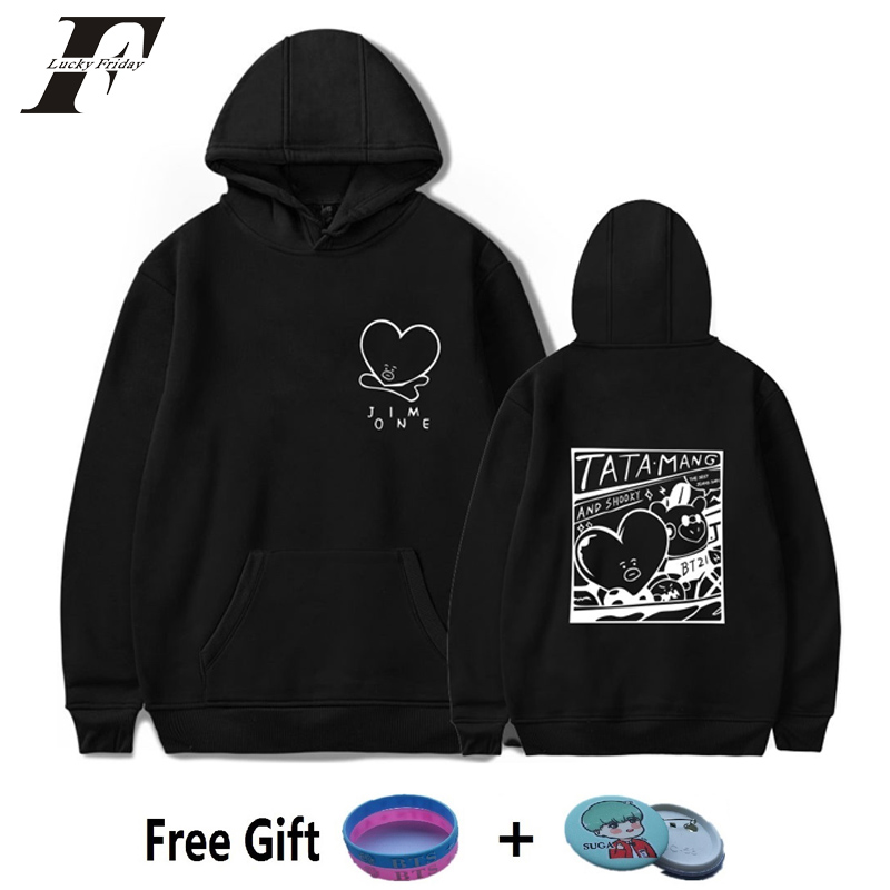 2018 BTS Kpop Love Yourself bt21 Harajuku oversized hoodies Sweatshirts Women/men Winter Bangtan Boys moletom K-pop Clothes 4xl