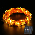Solar string light outdoor waterproof garden copper wire Fairy lamp Wedding christmas decoration led decorative lights 15M