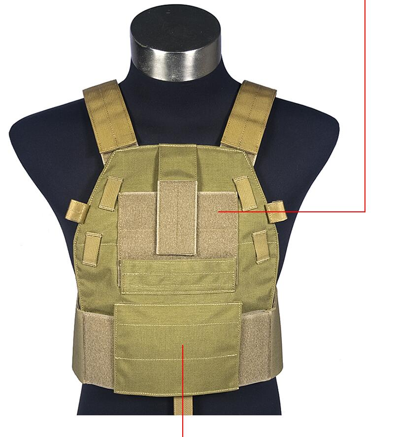 лучшая цена FLYYE MOLLE Tactical 6094 Slick Plate Carrier Lightweight Body Armor Combat Vest VT-M030