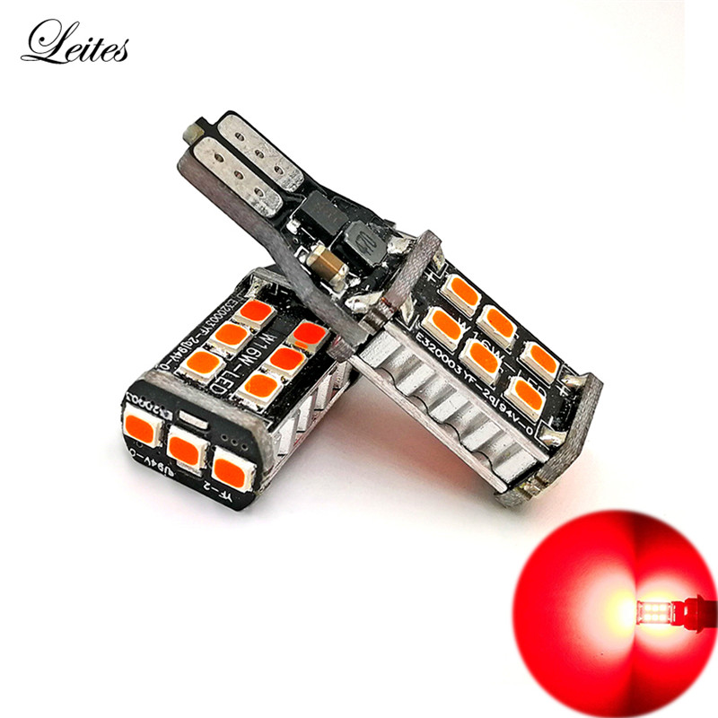 2pcs High Power 800 Lumens Super Bright T15 W16W 921 915 LED Canbus Error Free 15SMD 2835 Backup Reverse Tail Brake Lights Red 2pcs high quality superb error free 5050 smd 360 degrees led backup reverse light bulbs t20 for hyundai i30
