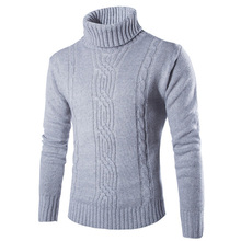 Autumn Male Knitting Turtleneck Sweaters Slim Man British Style Boutique Pullovers Winter Warm Sweater Hombre XXXL Y019