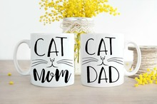Cat Dad Mugs Cat Mom Mugs coffee mug home decal tea art beer mug Dishwasher&Microwave Safe tea