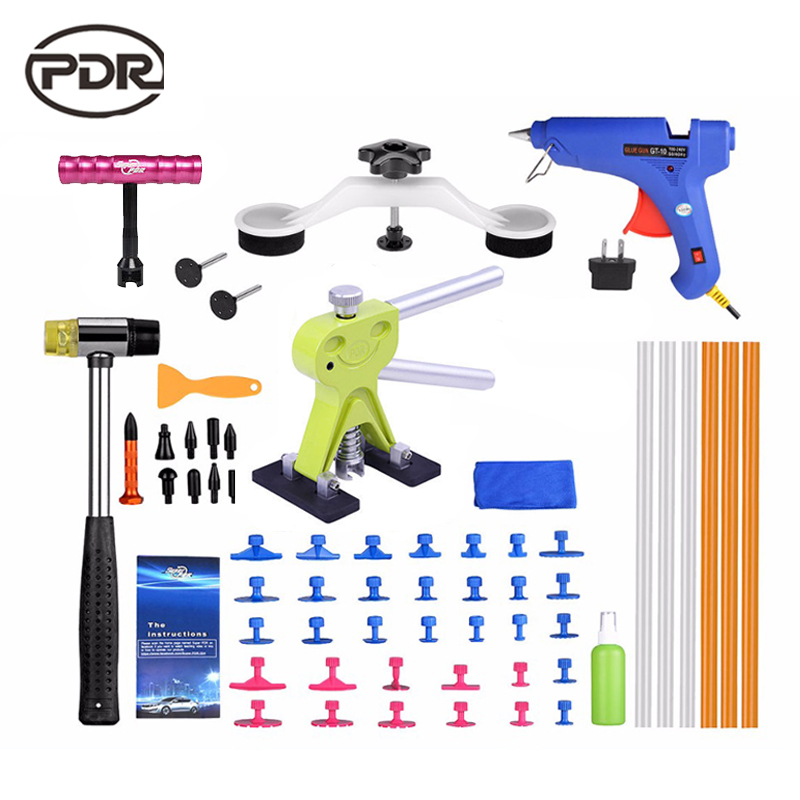 Super PDR Paintless Dent Repair Auto Repair Tool Automotive Tools Dent Repair Kit Car Body Tool Kit Dent Puller Tool Set