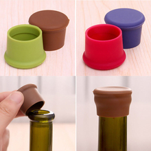 10pcs/lot Fashion Creative Home Wine Beer Cap Silicone Cover Bottle Stopper bottle lids silica gel cover