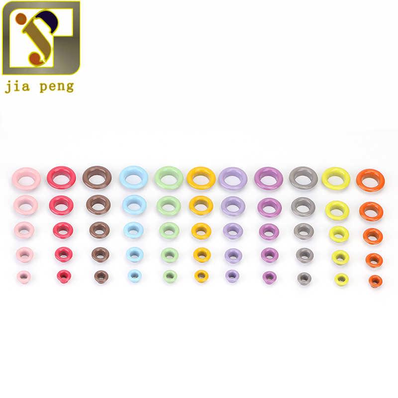 100pcs Occhielli In Metallo Anelli di Tenuta Per Il Mestiere Del Cuoio FAI DA TE Fatti A Mano Scrapbooking Accessori 10 millimetri Diametro Interno 16 Colori Disponibili