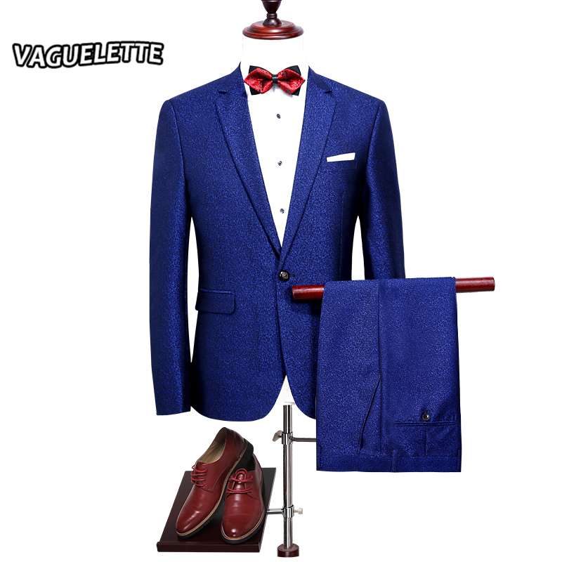 Royal Blue Mens Suits For Wedding Slim Fit Solid Bridegroom Suit Stylish Costumes Homme Mariage New Arrivals 2018 M-4XL