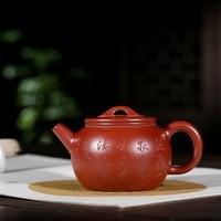 Yixing famous ore dahongpao all hand recommended Fan Zehong rainbow jade belt han tile teapot tea set