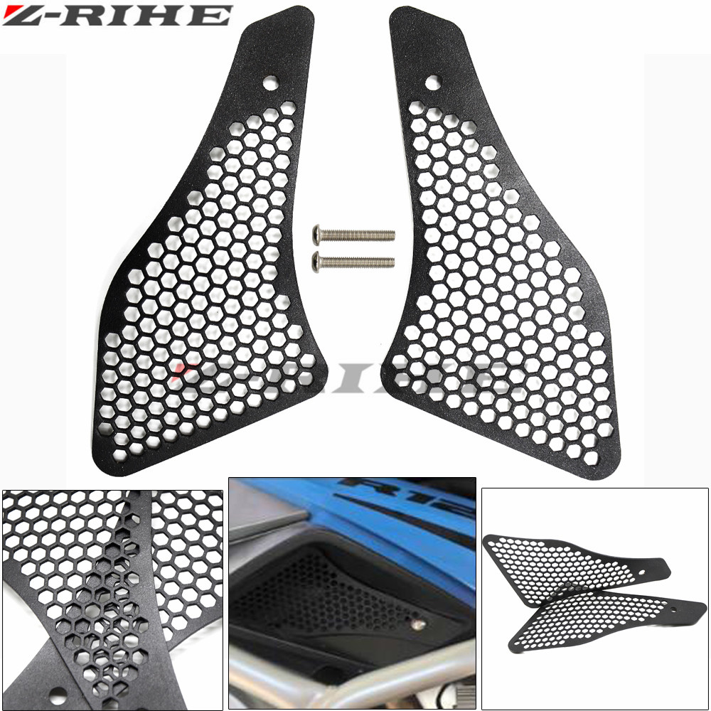 For R1200GS Air Intake Grill Guard Cover Protector Motorcycle For BMW R 1200 GS LC r1200 gs 2013-2016 2014 2015 Black epman universal 3 aluminium air filter turbo intake intercooler piping cold pipe ep af1022 af