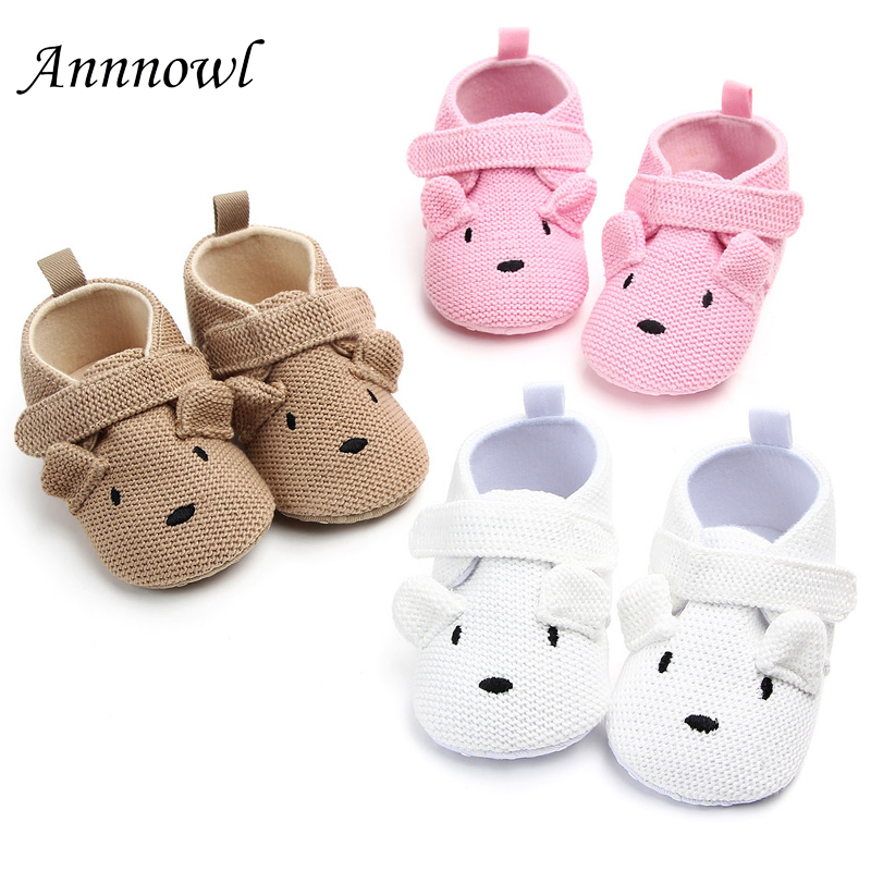 Newborn Baby Crib Shoes Fashion Cute Cartoon Infant Girl Knitted Shoe for 1 Year Old Boy Toddler Crochet Christian Birthday Gift in Crib Shoes from Mother Kids