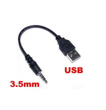 10pcs 3.5mm Male AUX Audio Plug Jack To USB 2.0 Female Converter Cable Cord MP3 SP new arrival 1m universal woven 3 5mm male to 3 5mm male audio stereo cable aux cord jack to jack for pc phone mp3 mp4 headphones