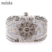 9397418b894c 2017 New Women Handmade Pearl Clutch Purse Wedding Dinner Bags With Chain  Sequined Clutch Wallets For