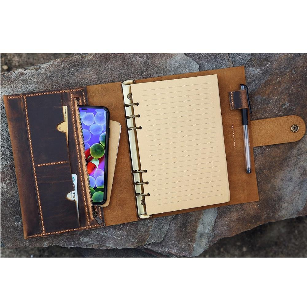 Personalized A5 Leather Notebook Planner / Refill Journal