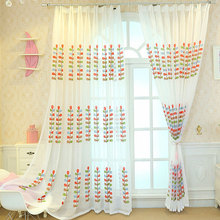 Grass Embroidered Curtains for Living Room Embroidered Sheer Curtains for Bedroom Tulle Curtains for Kids Window