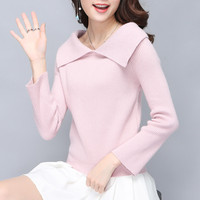 5340 Real Korean Version Of The New 2017 Women S Lapel Sweater 38