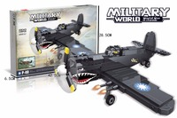 Hot world war 2 Curtiss P40 Fighter Flying sharks building block Flying Tigers ari force figures bricks mode toys collection