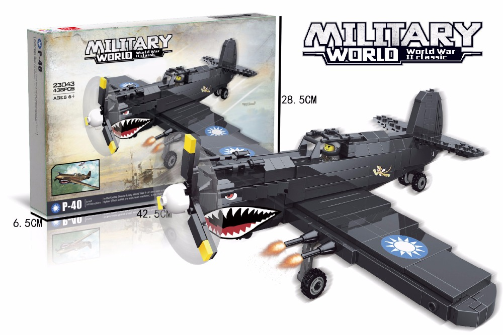 Hot world war 2 Curtiss P40 Fighter Flying sharks building block Flying Tigers ari force figures bricks mode toys collection lacywear платье s 293 ari