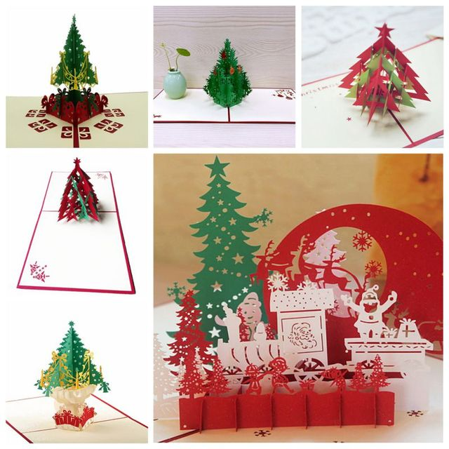 christmas 3d cards pop up greeting holiday cards gifts for xmasnew year 3d gift - Cheapest Christmas Cards