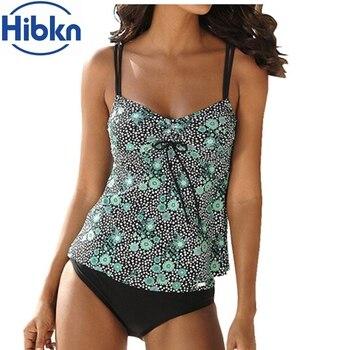 Print Two Pieces Swimwear Print Tankini Sets Halter Swim Suit Women Sport Bathing Suit Print Tank Top Swimming Wear Bathing Suit
