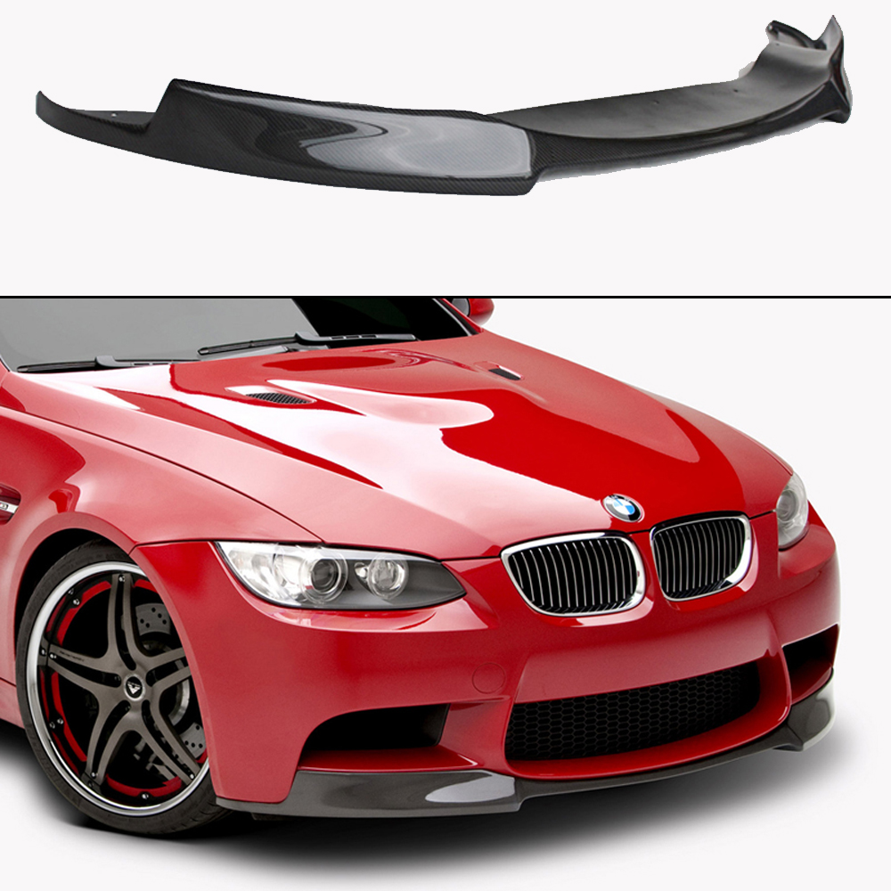 E92 M3 Vorsteiner Style Carbon Fiber Body Kit Front Bumper Lip for BMW E92 2006-2013 M3 Bumper Only olotdi carbon fiber front lip spoiler gts style front bumper for bmw e92 e93 m3 bumper car styling accessories factory