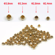 100PCS Brass Beads Hooks Head for Nymph Streamer Bugs Fly Fishing Tying Materials Accessories 2.4mm 2.8mm 3.3mm 3.8mm(China)