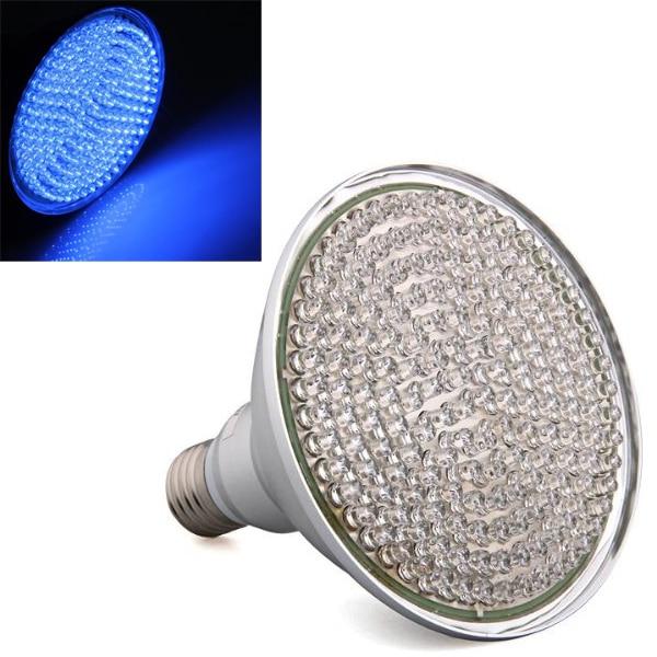 E27 PAR38 LAMPADA 168 LED BLU 8W PER COLTIVAZIONE PIANTE