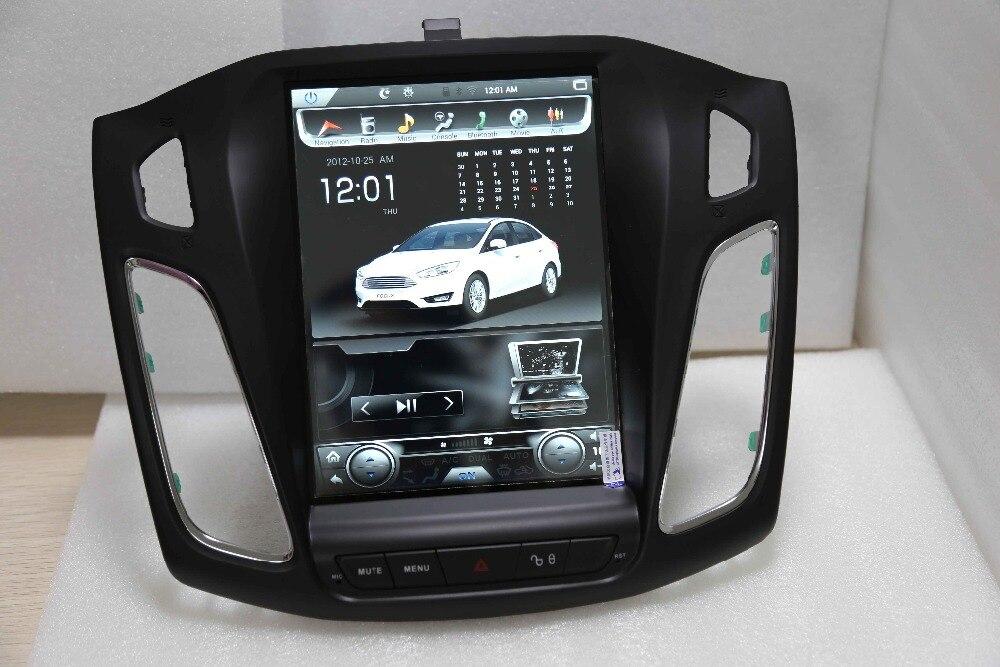Otojeta Vertical 10.4 Quad Core Android 6.0 2gb ram Car DVD GPS navi radio for Ford Focus 2012 2015 headunit multimedia stereo