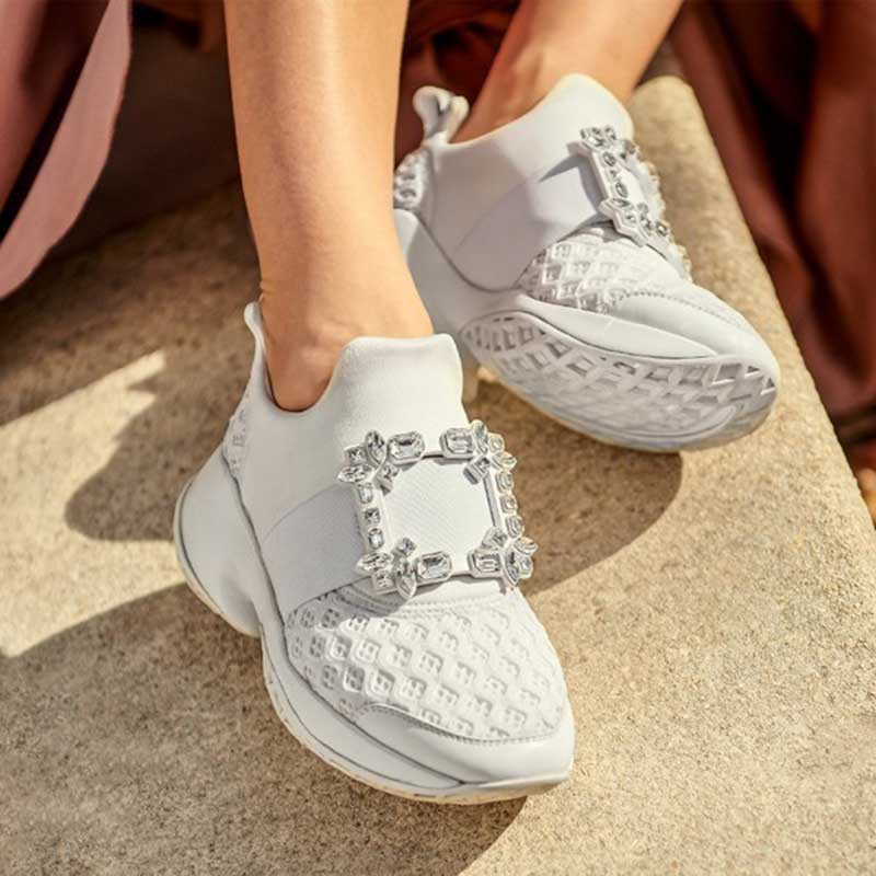 Bande Chaussures as Picture As Élastique Picture Strass Talons Femmes Casual Brillant Glissent Sur Épais Boucle Noir Sneakers Blanc De Course Cristal TBxn0RTP