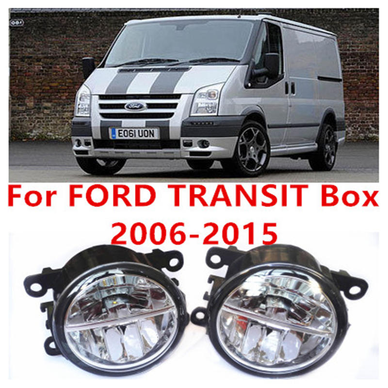 For FORD TRANSIT Box 2006-2015 Fog Lamps LED Car Styling 10W Yellow White 2016 new lights car electric window toggle switch front for ford transit mk6 2000 2006