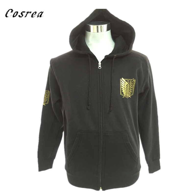 Japan Anime Attack On Titan Cosplay Costume Hoodies Sweatshirts Coat Halloween Party  Hoodies Costume Clothing Zipper Hoodies