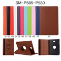 For Samsung Galaxy Tab A A6 10.1 P580 P585 Tablet 360 Degree Rotating Litchi Grain Folio Stand PU Leather Cover Rotatable Case