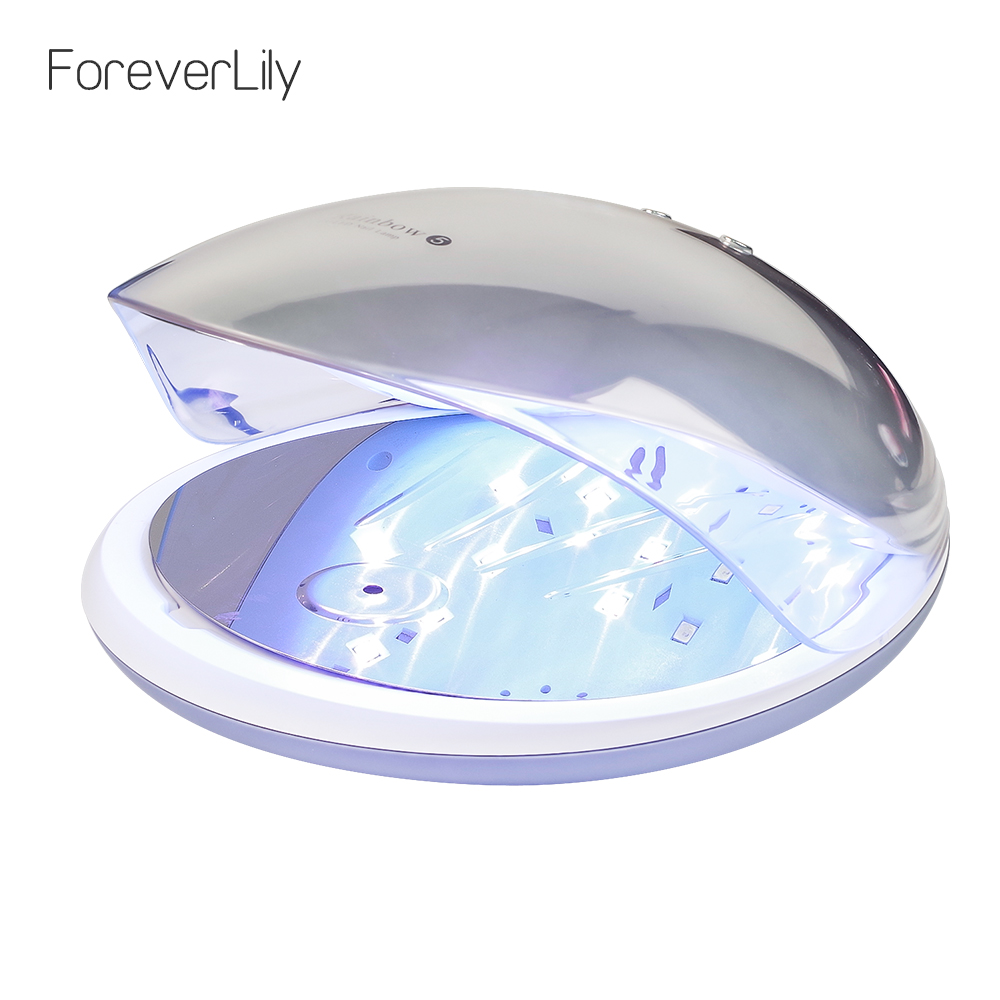 Foreverlily 48W Smart Fashion Nail Dryer UV LED Lamp Nail Drying Machine for All Gel Curing Light Manicure Nail Art Dryer Tools mdskl 48w led uv lamp nail dryer self clocking a minute of rapid drying golden electric nail art tools exemption from postage