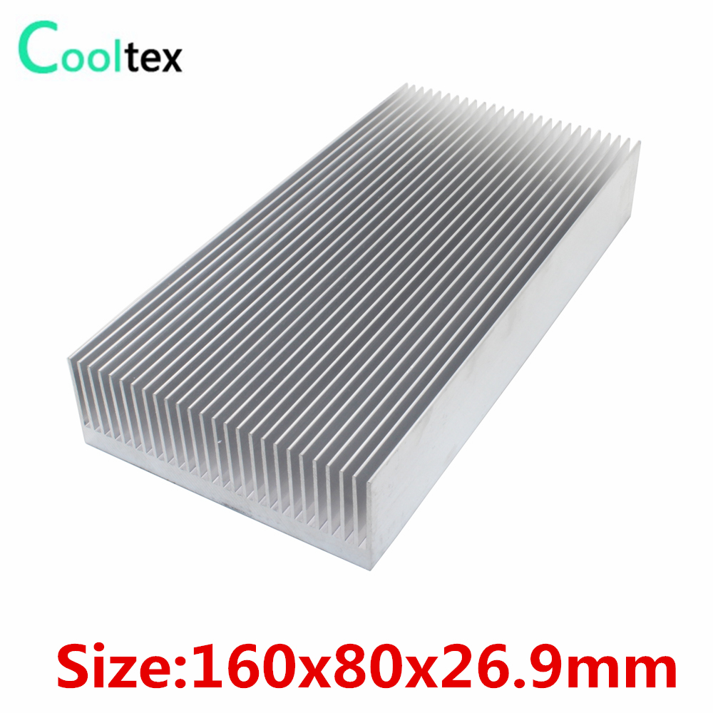 160x80x26.9mm DIY Aluminum HeatSink Heat Sink radiator for Electronic integrated circuit Chip VGA RAM LED IC COOLER cooling 1u server computer copper radiator cooler cooling heatsink for intel lga 2011 active cooling