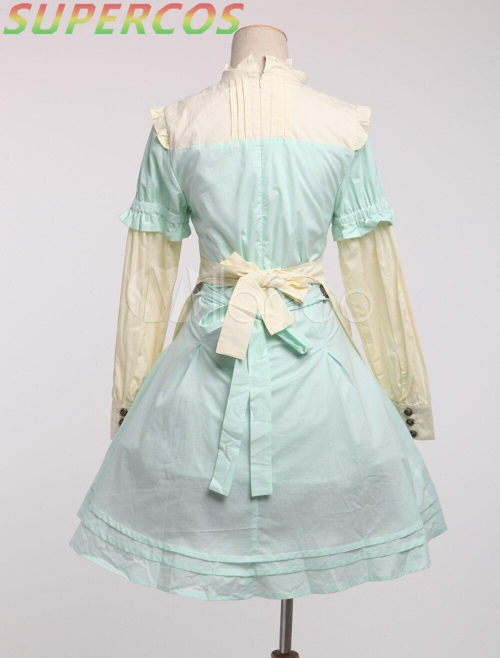 Manches Multi Vert Lolita À Courtes Robe Gratuite Coton Livraison Nouveautés Classique Qualité Doux Haute x0WzqOgA