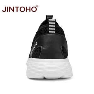 Image 5 - JINTOHO büyük boy yaz erkek ayakkabısı nefes erkekler Sneakers örgü erkek moda ayakkabılar rahat erkek ayakkabı üzerinde kayma erkek mokasen ayakkabıları