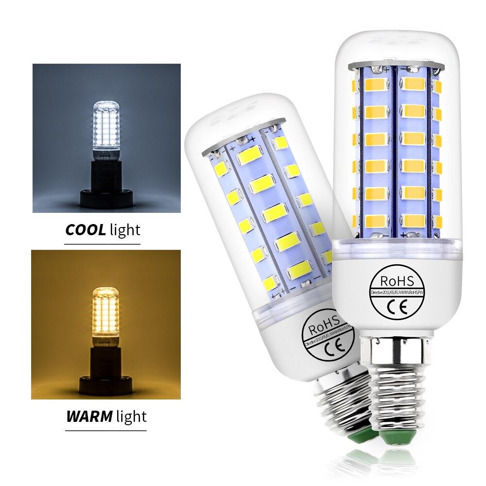 Led Bulb E27 220V Corn Lamp E14 230V Led Light Bulbs for Home SMD5730 24 36 48 56 69 72leds High Brightness Candle Home Lighting
