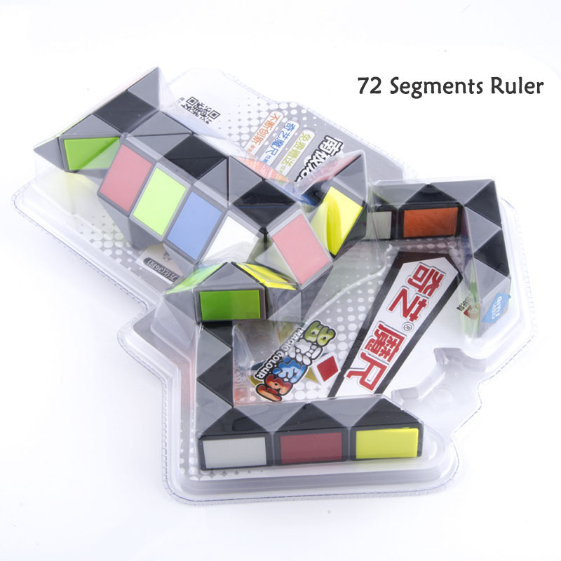 w0 Special Section 126cm 72 Segments Colorful Magic Ruler Professional Magic Snake Twist Cube Puzzle Educational Toys For Children Toys & Hobbies