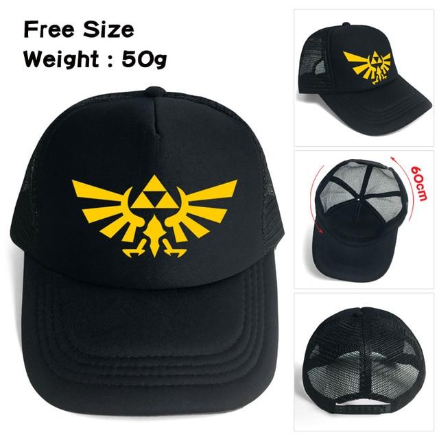 Legend of Zelda baseball hat Winged Triforce Snapback adjusted mesh cap  sunhat Hip Hop Hat For Men Women 42be8d15f845