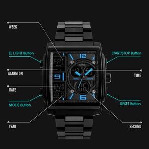 Image 2 - Skmei criativo esportes relógios masculinos de aço inoxidável malha moda relógio masculino marca superior luxo digital relogio masculino 1274