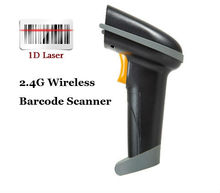 2.4G Wireless 10M  USB Laser Handheld Barcode Reader Scanner with Memory support IOS Android Windows
