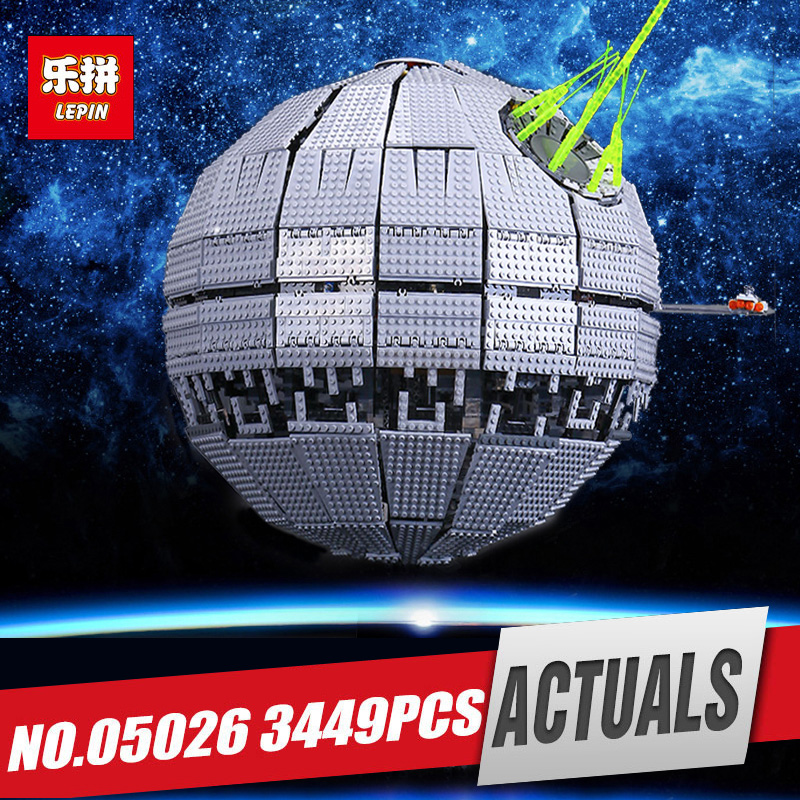 DHL LEPIN 05026 Star Death Toy Star The second generation Building Block Bricks Funny War Toy Compatible with legoing 10143 Gift dhl lepin 05055 star series military war the rogue one usc vader tie advanced fighter compatible 10175 building bricks block toy