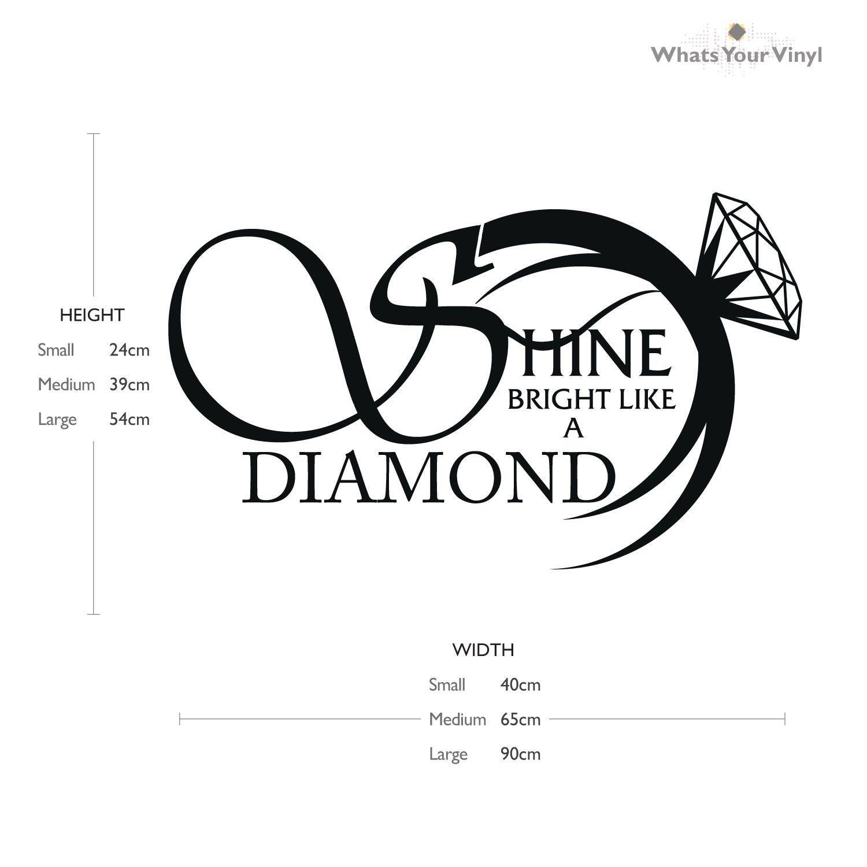 Q035 2016 New hot Removable Shine Hell wie ein Diamant Vinyl Musik - Wohnkultur - Foto 2