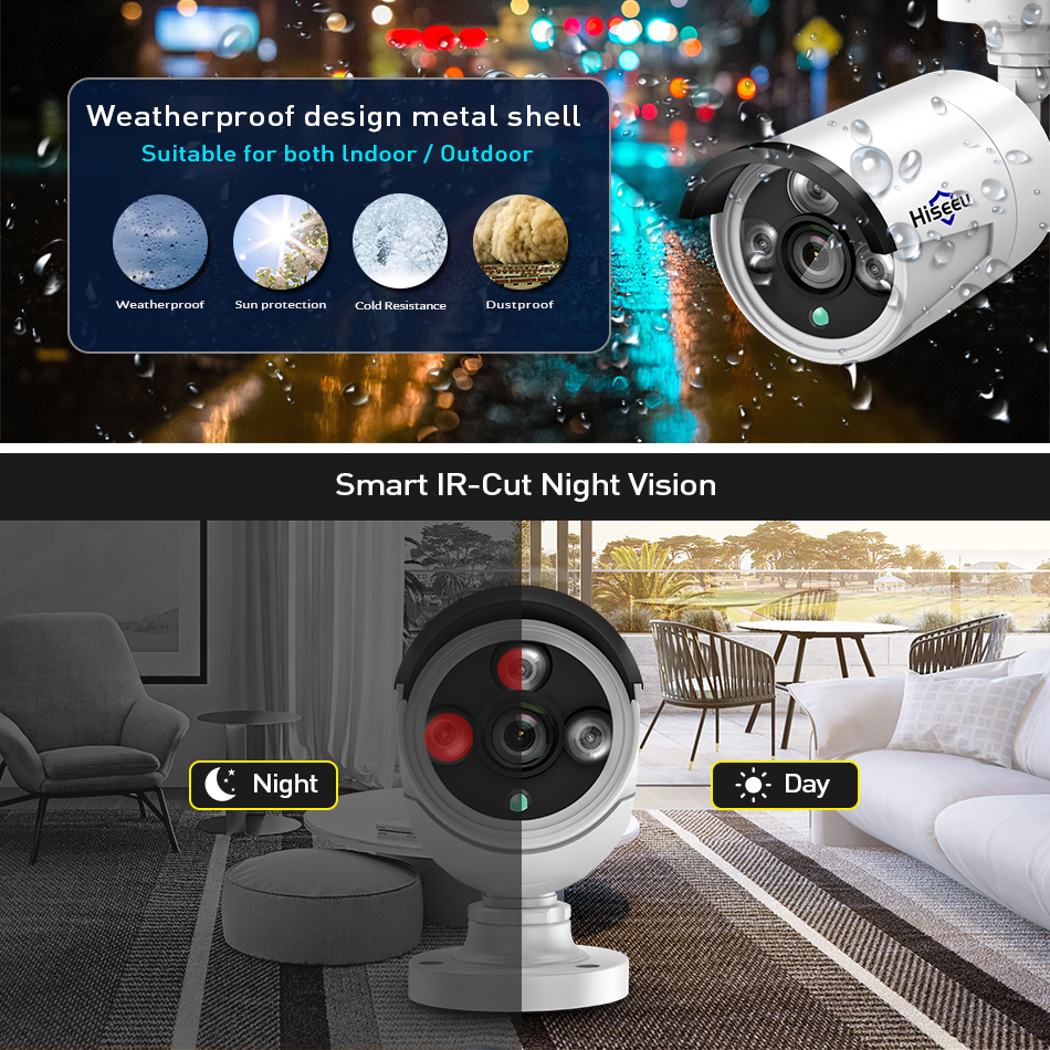 Image 2 - 1080P Wireless CCTV System 2M 8ch HD wi fi NVR kit Outdoor IR Night Vision IP Wifi Camera Security System Surveillance Hiseeu-in Surveillance System from Security & Protection
