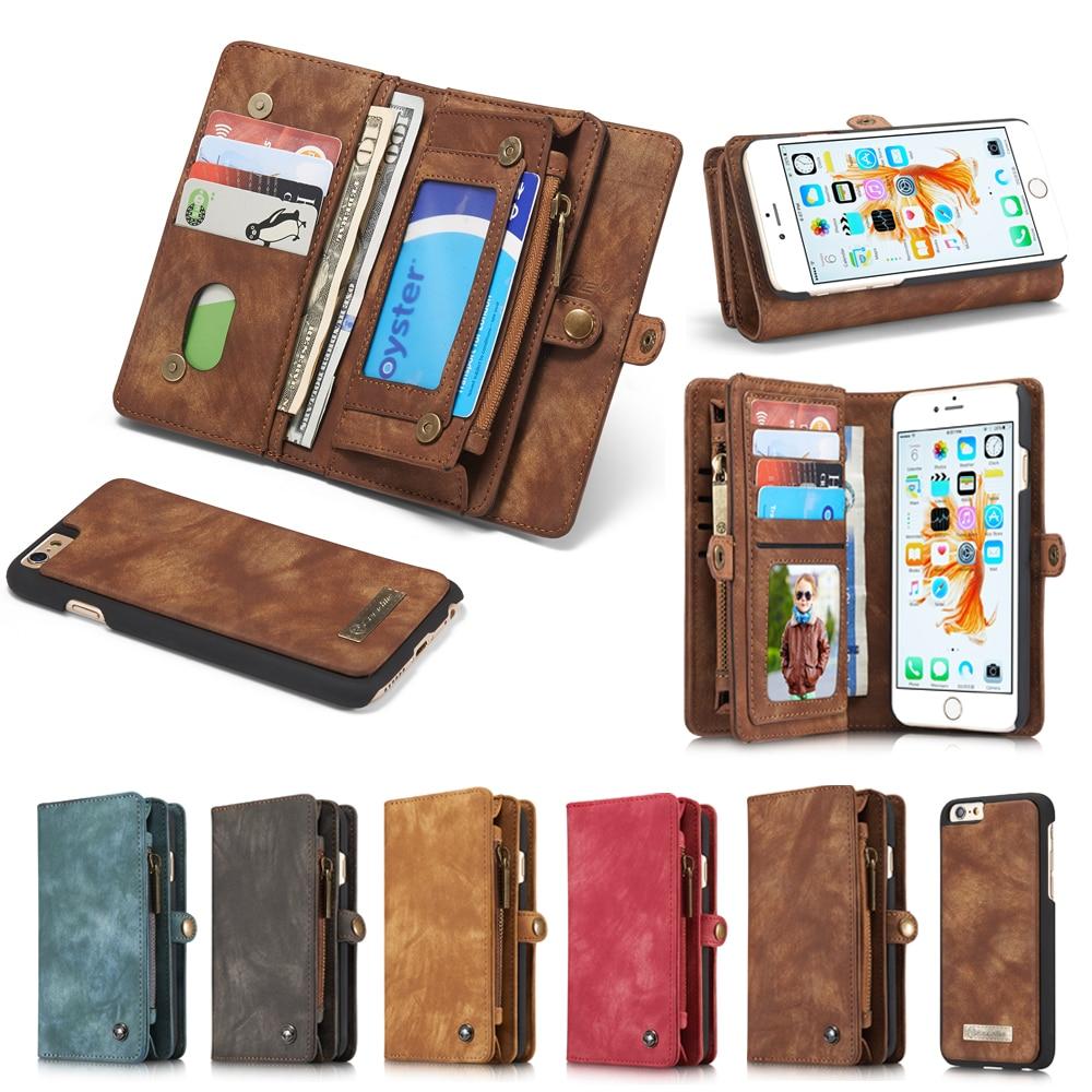 bilder für Echtes Leder-mappen-kasten Für Apple iPhone 7 6 6 s/7 6 6 S Plus Luxus multifunktionale Ursprüngliche Magnet Abdeckung Phone Cases Tasche