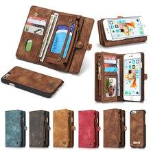 Натуральная кожа бумажник чехол для Apple iPhone 7 6 6S/7 6 6 S плюс Роскошный Многофункциональный Оригинал Магнит крышка телефон случаях сумка