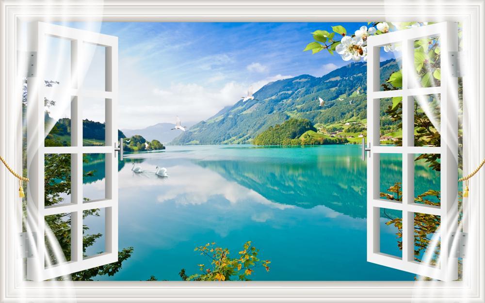Personnaliser balcon vue fenêtre rideaux pour enfants chambres salon chambre rideau occultant