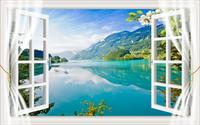 customize Balcony view window curtains for kids rooms Living room bedroom blackout curtain