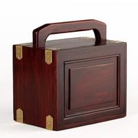 home decoration Mahogany wood wood acid branch jewelry box jewelry box box Chinese retro ebony three layer decorative box